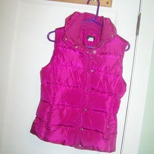J. Crew Womens Vest Pink Puffer Jacket Small